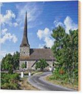 Picturesque Rural Church Wood Print