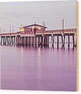 Pier In The Sea, Gulf State Park Pier Wood Print