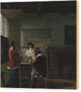Pieter De Hooch Wood Print