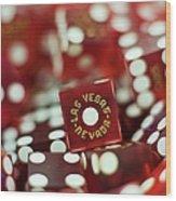 Pile Of Dice At A Casino, Las Vegas, Nevada Wood Print