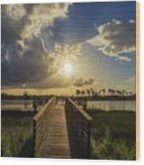Pine Glades Sunset Wood Print