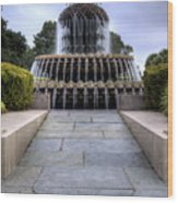 Pineapple Fountain Charleston Sc Wood Print