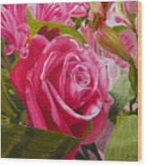 Pink Bouquet Wood Print