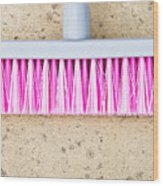Pink Broom Wood Print
