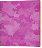 Pink Camo  Wood Print