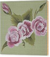 Pink Miniature Roses Wood Print