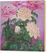 Pink Romance Wood Print