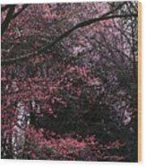 Pink Trees Wood Print