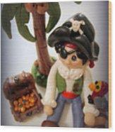 Pirate Scene Wood Print by Trina Prenzi