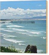 Pismo Beach Pier Panorama Wood Print