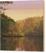 Placid Pond Wood Print