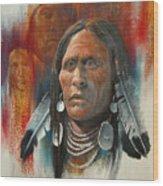 Plainsman Wood Print by Robert Carver