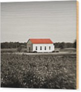 Plantation Church Wood Print