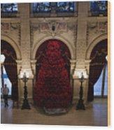 Poinsettia Christmas Tree The Breakers Wood Print