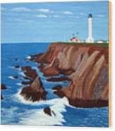Point Arena Light Station Wood Print