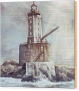 Point St. George Reef Lighthouse Wood Print