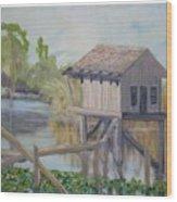 Pole House Wood Print