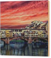 Ponte Vecchio Bridge Wood Print