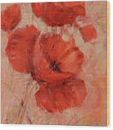 Poppy Flowers Handmade Oil Painting On Canvas Wood Print