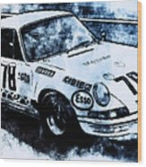 Porsche Carrera Rsr, 1973 - 03 Wood Print