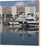 Port Canaveral In Florida Usa Wood Print