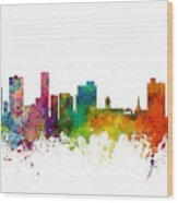 Port Elizabeth South Africa Skyline Wood Print