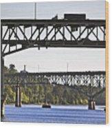 Portland Port104 Wood Print