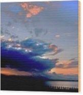 Portobello Clouds Wood Print