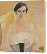 Portrait Of A Lady Boris Grigoriev Wood Print