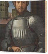 Portrait Of A Man In Armour Wood Print