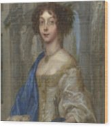 Portrait Of A Woman As Saint Agnes Wood Print