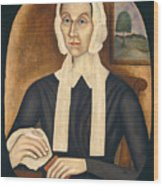 Portrait Of A Woman Wood Print