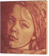 Portrait Of A Young Girl Wood Print