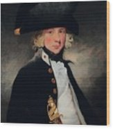 Portrait Of A Young Midshipman Sir Henry William Beechey Wood Print