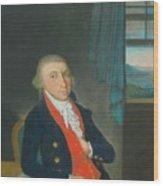 Portrait Of An American Sea Captain Wood Print