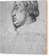 Portrait Of Cardinal Albrecht Of Brandenburg  Wood Print