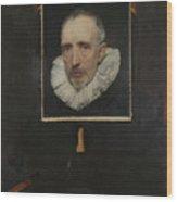 Portrait Of Cornelis Van Der Geest Wood Print