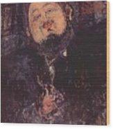Portrait Of Diego Rivera 1914  Wood Print