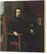 Portrait Of Don Justino De Neve Wood Print