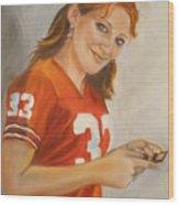 Portrait Of Ellie Wood Print