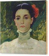 Portrait Of Maggie Wilson Wood Print