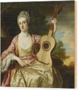 Portrait Of Maria Walpole Wood Print