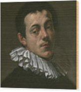 Portrait Of Painter Josef Heintz Wood Print