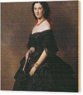 Portrait Of Princess Bariatinskaya Franz Xavier Winterhalter Wood Print