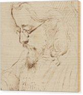 Portrait Of Samuel Palmer Head And Shoulders Wood Print
