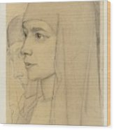 Portrait Of Treesje Westermann, Mother Teresa Huf Of Bethany, Jan Toorop, 1927 Wood Print