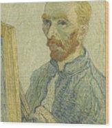 Portrait Of Vincent Van Gogh Wood Print