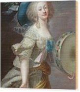 Portrait Une Danseuse Au Tambourin Lisabeth Louise Vige Le Brun Wood Print