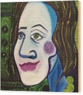 Portrat Of M.b. Wood Print