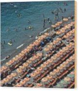 Positano Beach Wood Print